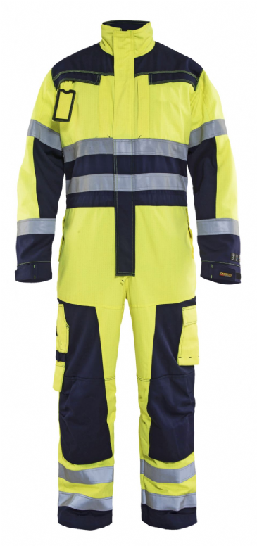 Blaklader 6378 Multinorm Flame Retardant Coverall (Hi Vis Yellow / Navy)